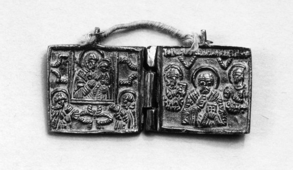 Pectoral Diptych with Virgin Hodegetria and St. Nicholas
