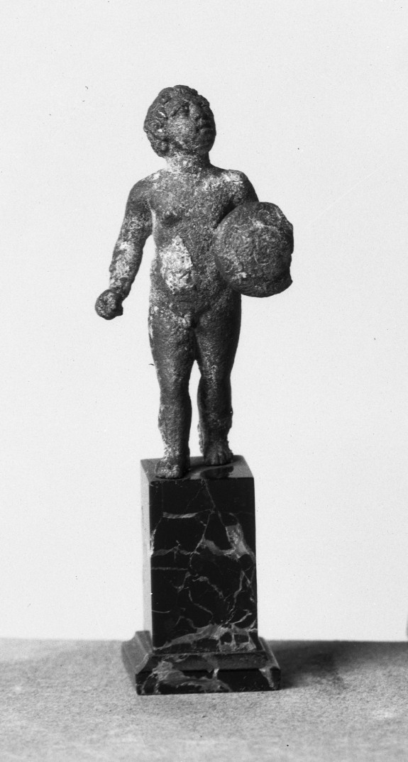 Child Carrying a Shield