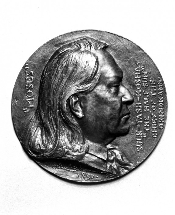 Portrait Medallion of Sulk-tash-kosha, Chief of the Okinokan