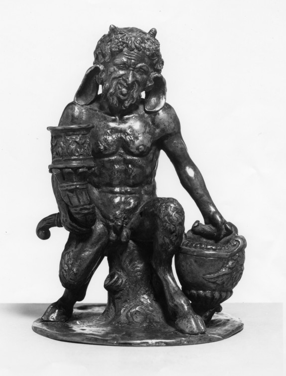 Satyr with Inkwell and Candleholder