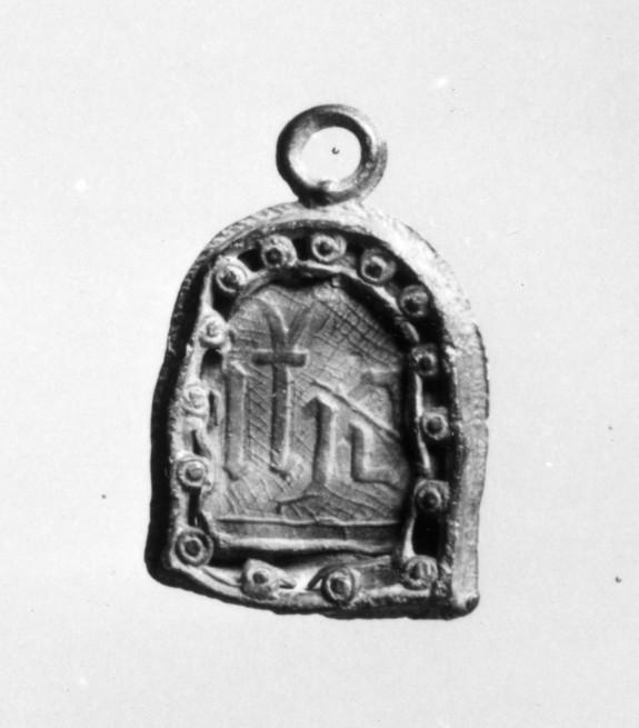 Pilgrim's sign; MONOGRAM OF CHRIST/I H C