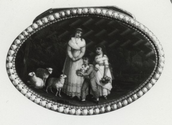 Snuffbox with Mother, Children, and Sheep