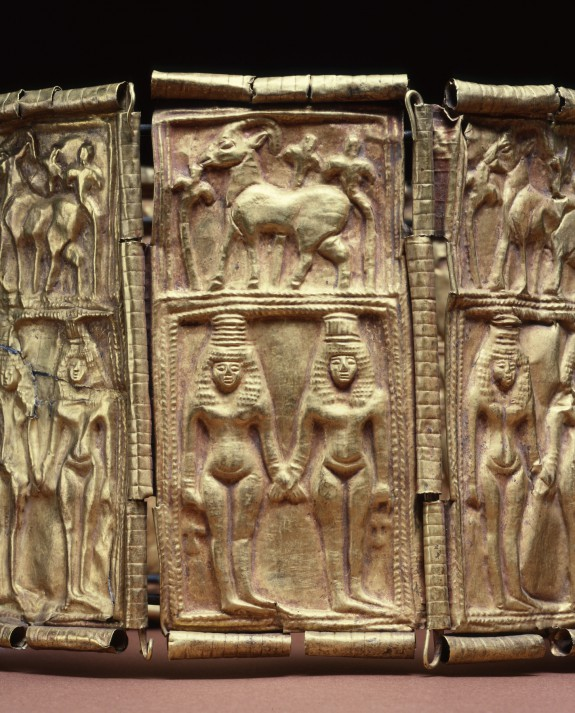 Crown with Goddesses and Ibexes