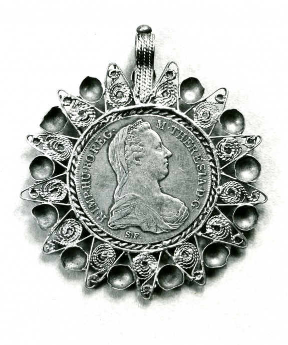 Pendant with a Medal of Empress Maria Theresa of Austria