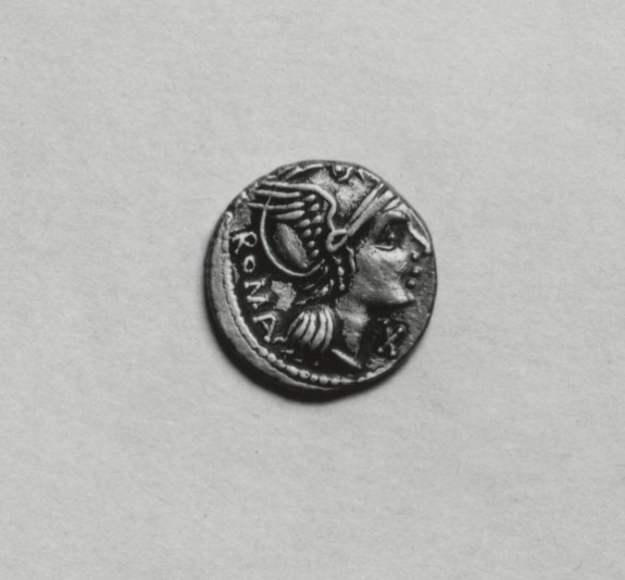 Denarius of L. Flaminius Chilo