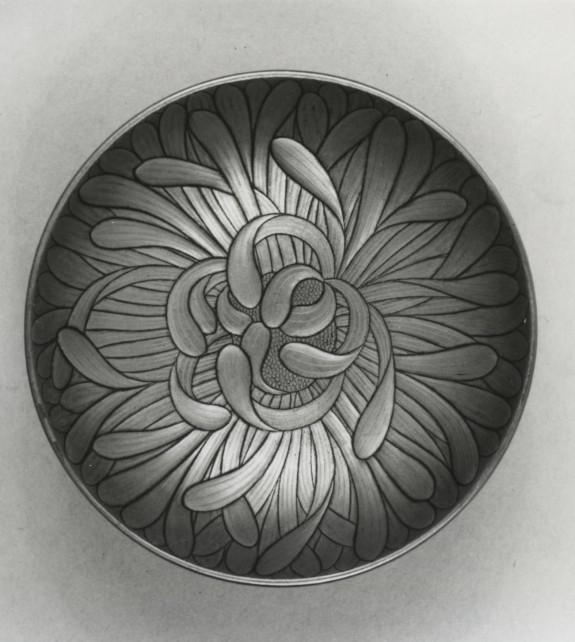 Sake Cup (sakazuki) in the Form of a Chrysanthemum