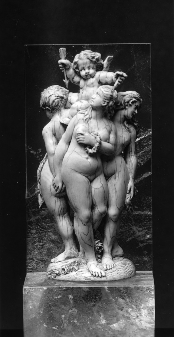 Three Graces and Cupid
