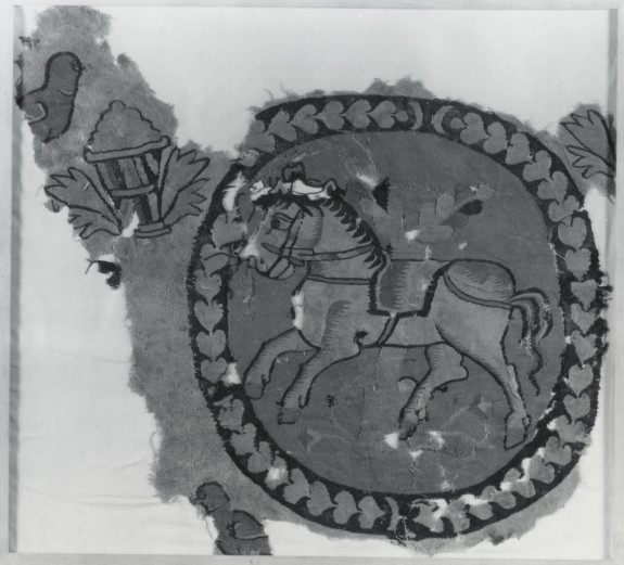 Wall Hanging or Curtain Fragment with Riderless Horse