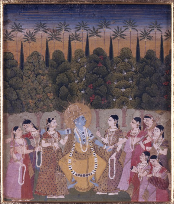 Krishna Dancing with Gopis