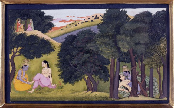 Krishna and Radha as Lovers, from a