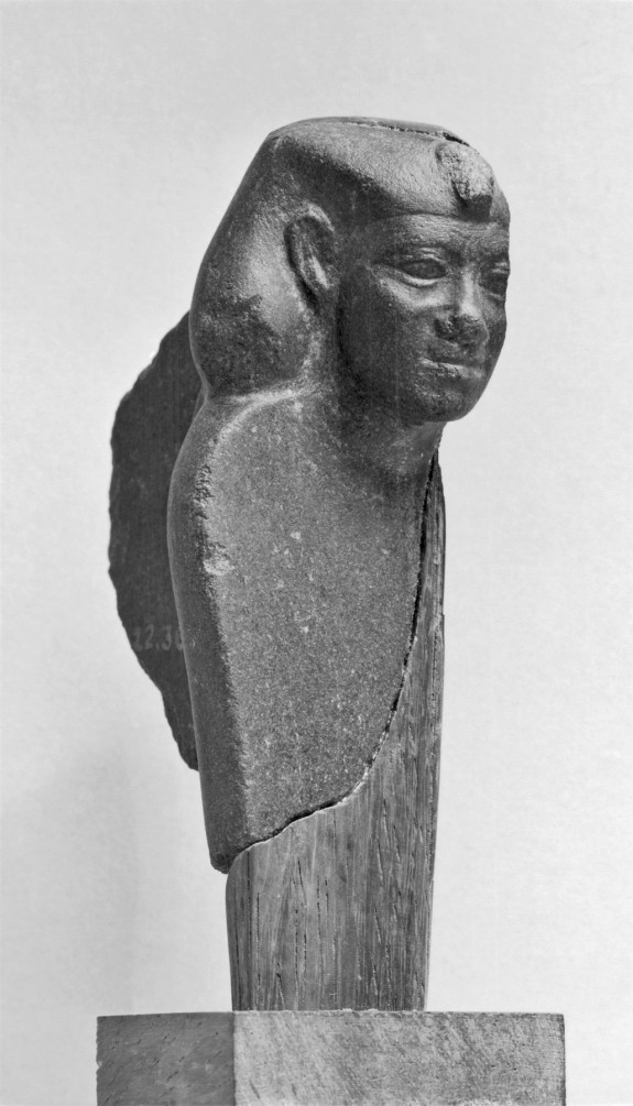 Fragment of a Uraeus with the Head of a King