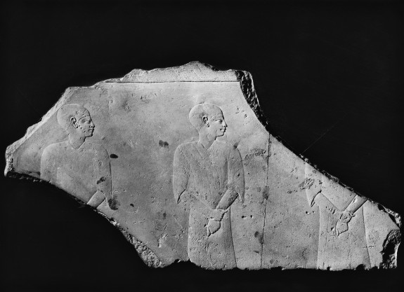 Relief Fragment of Three Men Facing Right