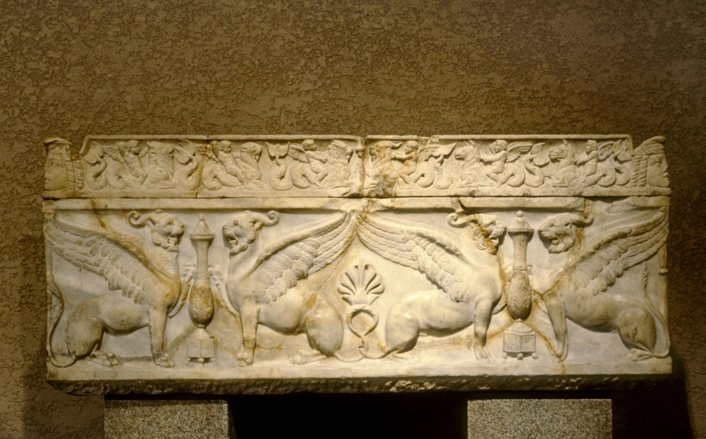Sarcophagus with Griffins