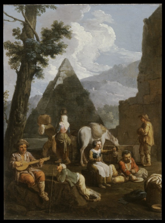 Peasants near Roman Ruins