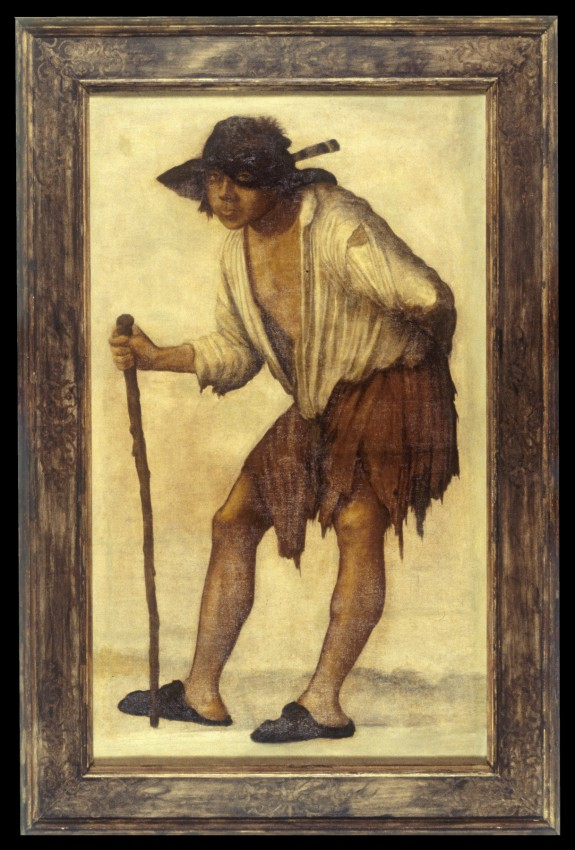 Beggar Looking through His Hat