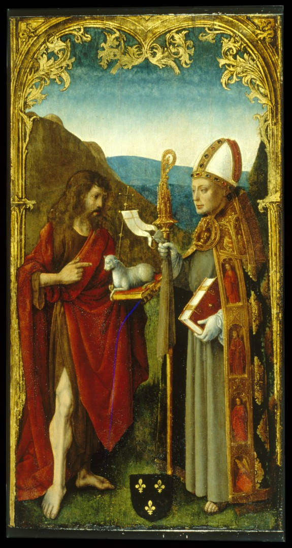 Saint John the Baptist and a Bishop Saint