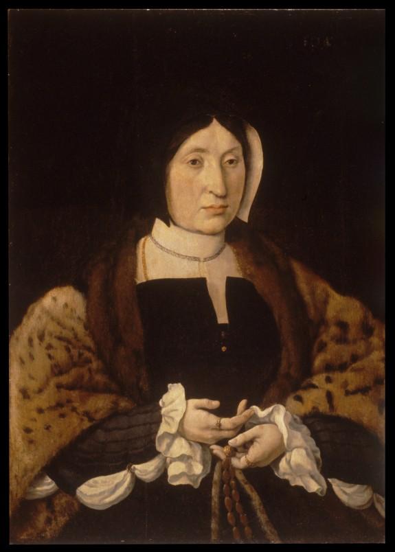Portrait of a Woman in a Leopard Cloak