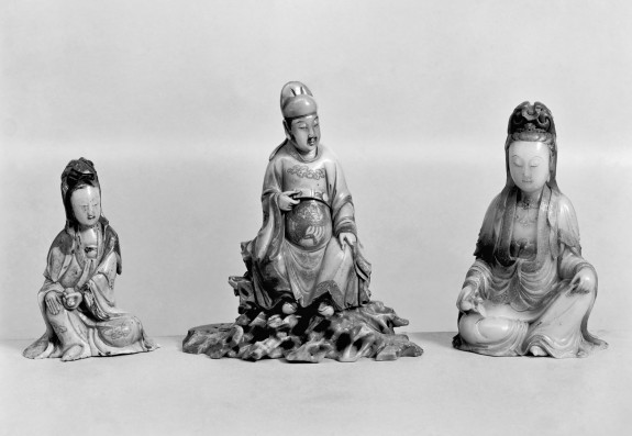 Seated Figure of Guanyin [Kuan-yin] Holding Scroll