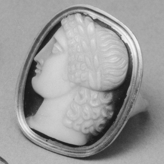 Ring with Cameo of Head of Apollo Wearing a Laurel Wreath