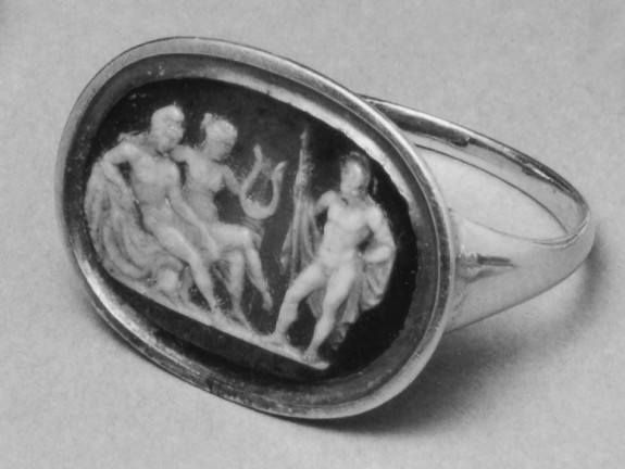 Ring with Cameo of Vulcan, Mars and Venus