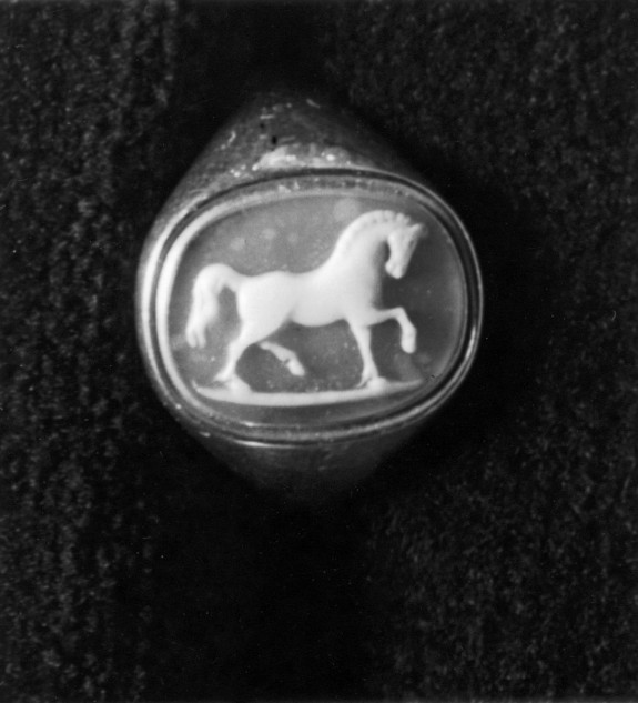 Cameo with a Horse Set in a Ring