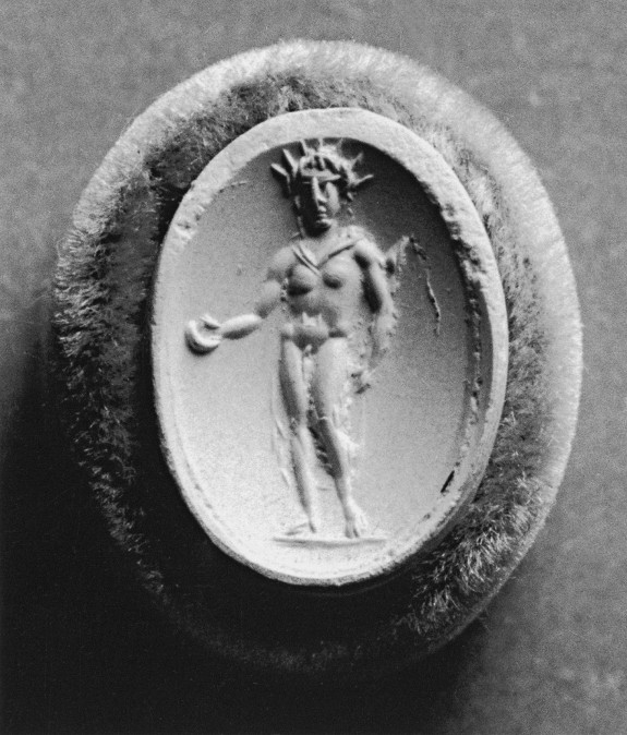 Intaglio with Helios Set in a Ring