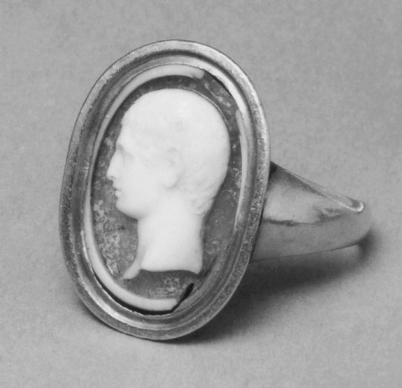Ring with Cameo of a Roman