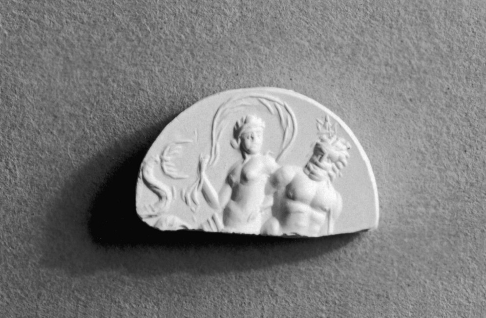 Intaglio Fragment with Amphitrite and Poseidon on a Sea Monster