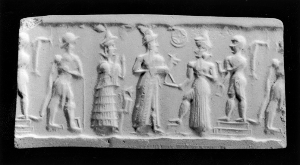 Cylinder Seal with a Deity Accepting an Offering