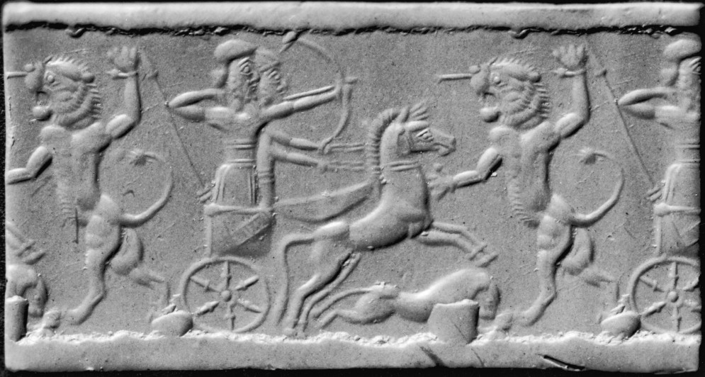 Cylinder Seal with a Lion Hunt