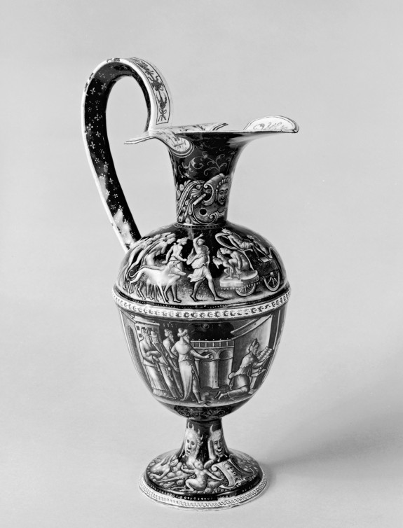 Ewer with the Triumph of Diana and Josiah Reading the Law