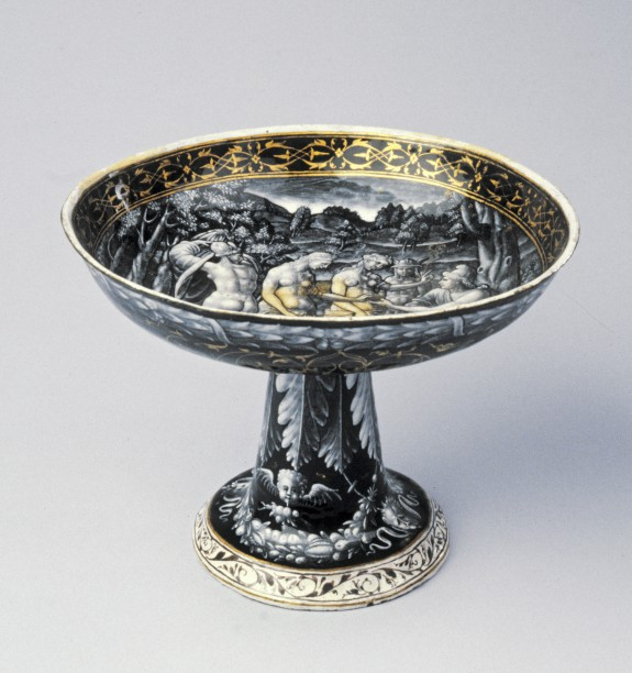 Footed Dish with the Judgment of Paris