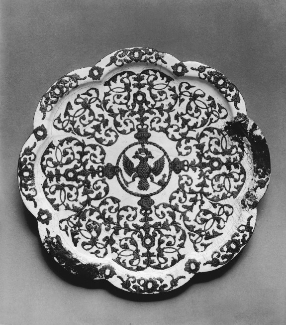 Tray with a Double-Headed Eagle