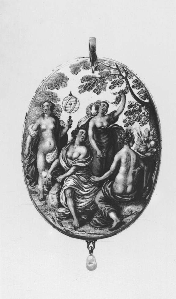 Oval Locket with the Four Elements