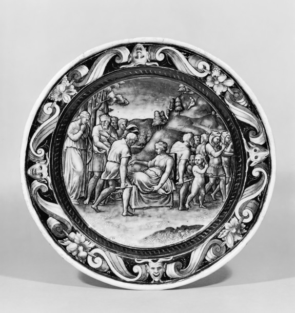 Plate with Psyche Carried into the Mountains
