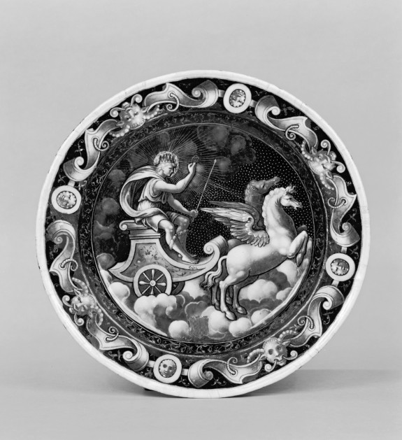 Plate with Sol in His Chariot