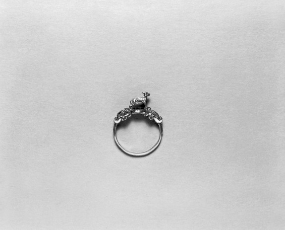 Ring with a Greyhound on a Grassy Mound
