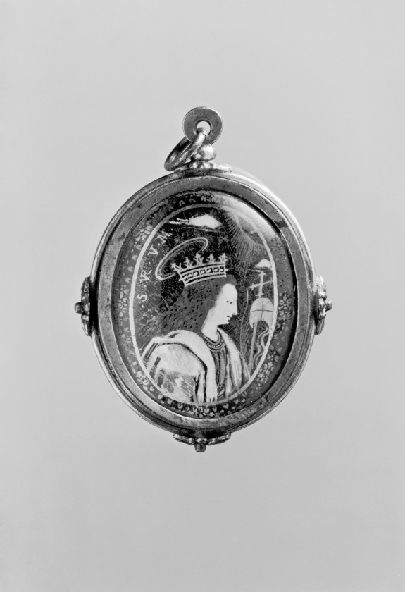 Pendant with Saint Anthony of Padua and Saint Ursula