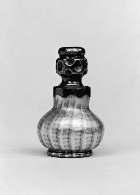 Miniature Vase with Silver Lid