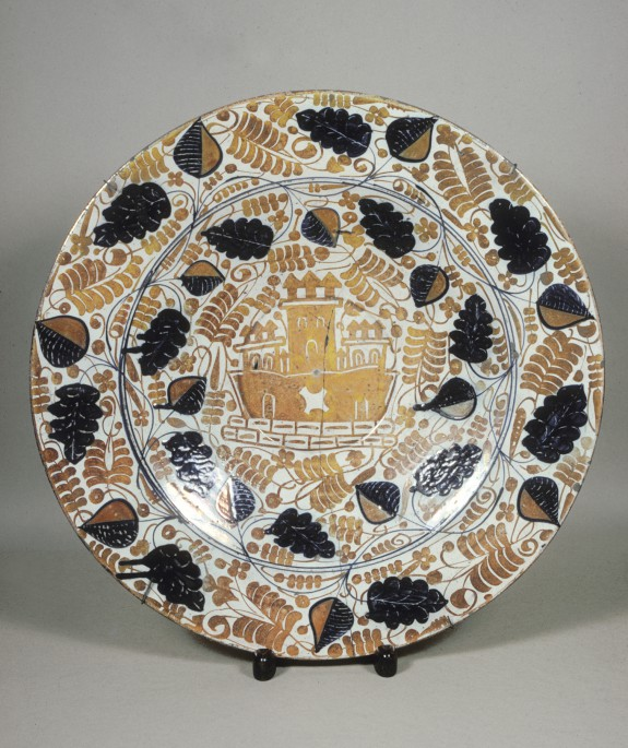 Plate with a Castle