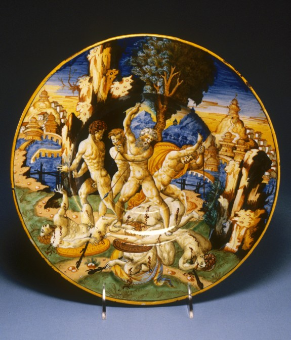 Plate with Samson Killing the Philistines