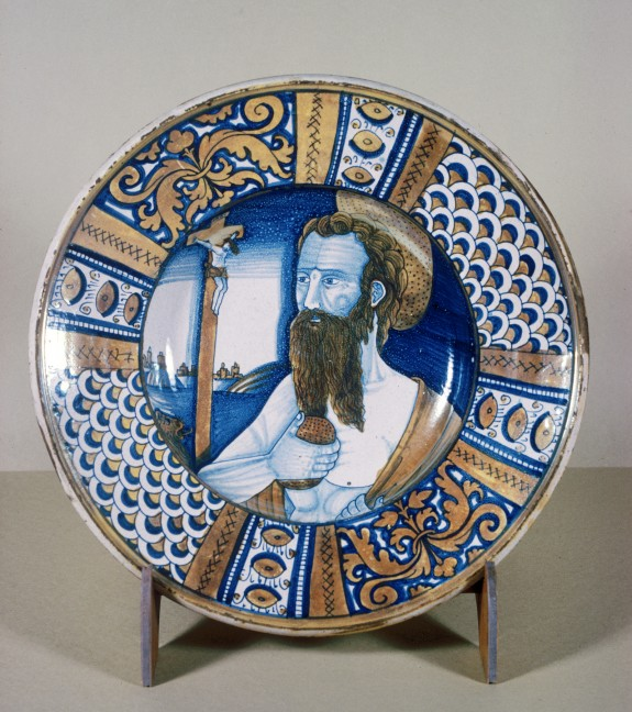 Plate with Saint Jerome Doing Penance