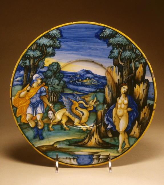 Plate with Perseus and Andromeda