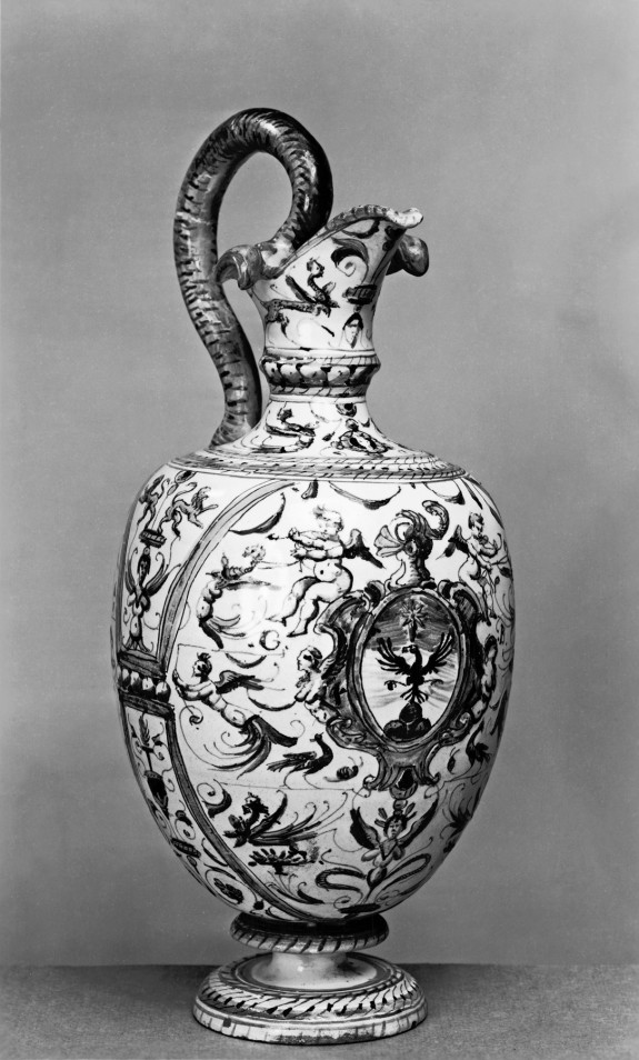 Ewer with Eagle on a Shield with the Arms of the Del Monte (?) Family