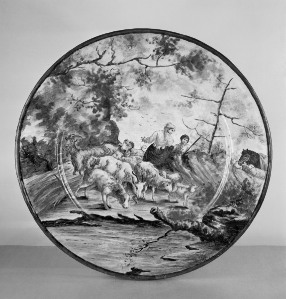 Large Plate with a Pastoral Scene