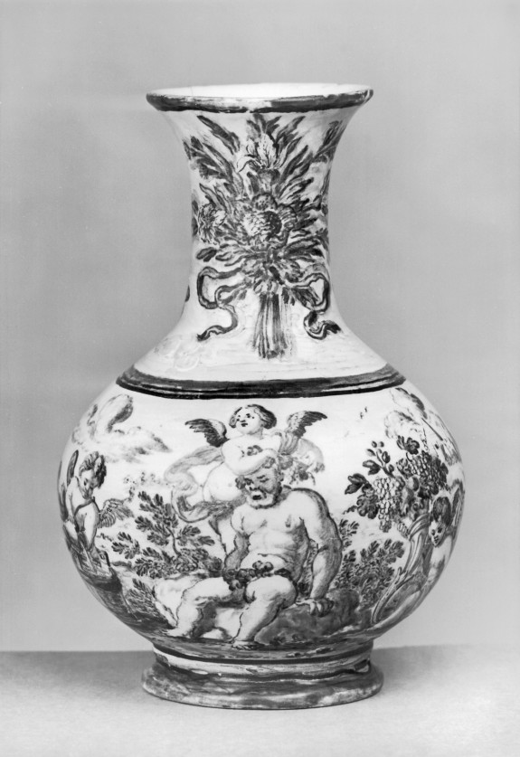 Small Urn with Silenus
