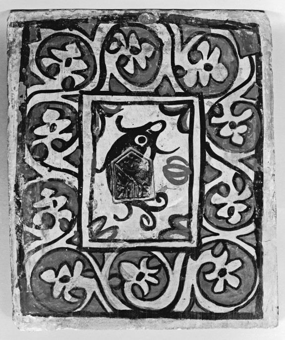 Ceiling Tile (socarrat) with Dolphin or Porpoise