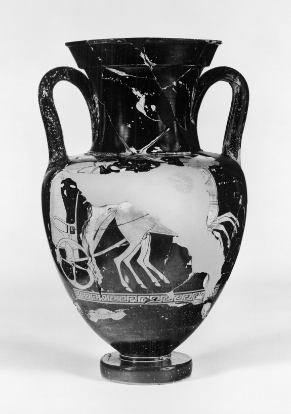Amphora with Chariot and Driver