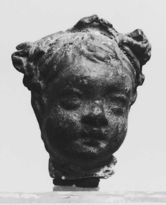 Head of a Child with Floral Crown
