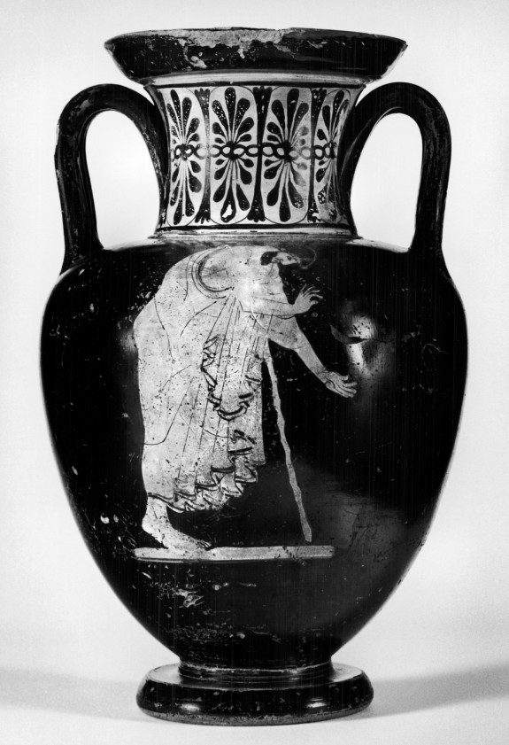 Neck Amphora with Two Figures